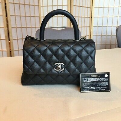 9bd17ab576 CHANEL BLACK COCO Handle Flapbag Caviar Quilted Bag - $4,800.00 ...