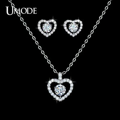 UMODE Girls Jewelry Set with 1 pair of Heart Shape Cute Stud Earrings & 1