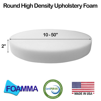 Diameter Upholstery Foam Bar Stools, Seat Cushion, Patio Round Cushion Replacemt