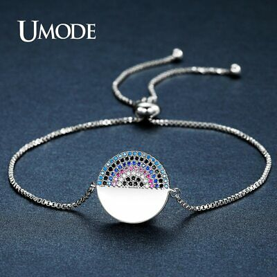 UMODE New Colorful Austrian Rhinestone and Clear CZ Chain & Link Bracelets for