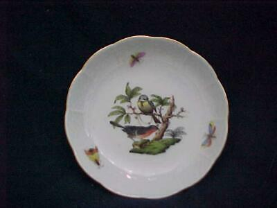 Herend Rothschild Birds Round Pin or Trinket Dish -- MINT & Never Used