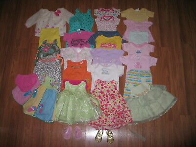 Lot Baby Girls Spring Summer Clothes Size 3-6 Months Carters Gymboree Old Navy