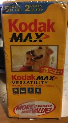 Kodak MAX 400 35mm Color Print Film 7 Rolls Exposure 192 Sealed EXPIRED 2005