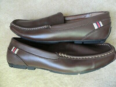 77a170ac3c08 TOMMY HILFIGER Men s 9.5 M Slip On Casual Loafers Driving Shoes Brown Moc
