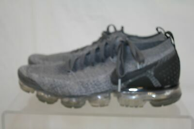 Nike Air Grey And Black Flyknit Vapormax Men's Running Shoes Size US 10 1/2