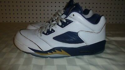 4e7198f36 Nike Air Jordan 5 V Retro Low Dunk From Above White Navy Size 11   819171