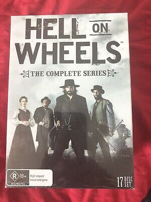 Hell On Wheels The Complete Series Boxset 17 Disc Set (DVD Region 4) New Sealed