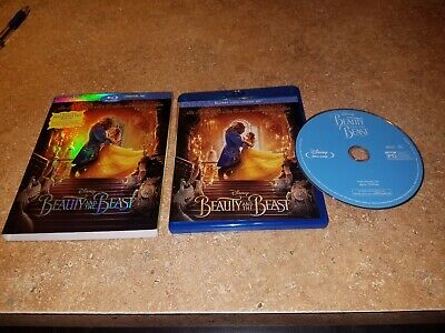 DISNEYS BEAUTY AND THE BEAST (Blu-ray, 2017) EXCELLENT CONDITION WITH SLIPCOVER