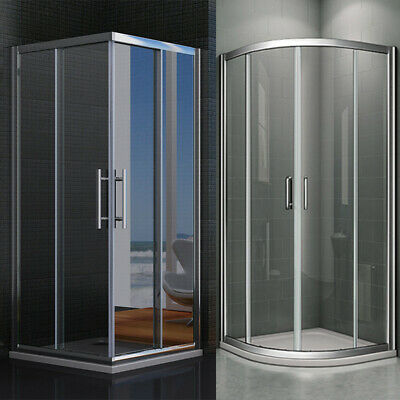 Quadrant Corner Entry Shower Enclosure And Tray Sliding Door Safety Glass CL