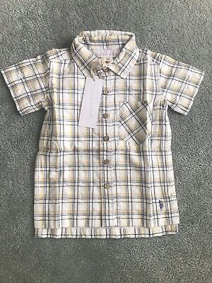 WDW Well Dressed Wolf Boys Yellow Shirt size 24m NWT -