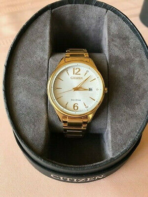 Citizen Eco-Drive Women's FE6102-53A Chandler Crystals Gold-Tone 37mm Watch