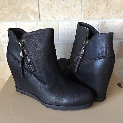 1663630c6ef UGG MYRNA WEDGE Ankle Boots Brown Lodge Leather Us 8.5 / Suitable ...
