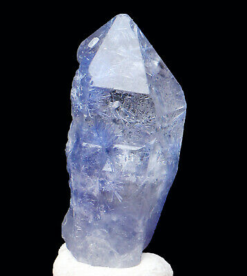 Natural Blue Dumortierite Quartz Crystal Mineral Specimen Unpolished Pendant