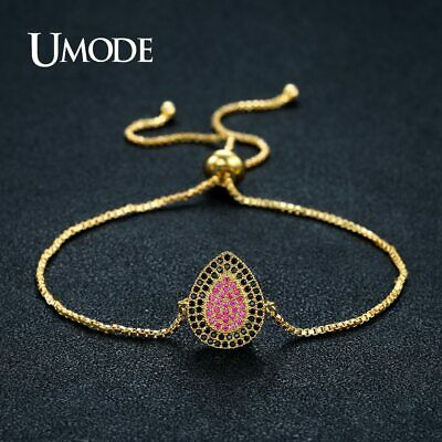 UMODE Cute Water Drop Black Charm Crystal Long Charm New Bracelets for Women
