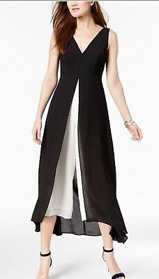 Adrianna Papell Jump Suit/new With Tag/size 20W/retail$169/black/white