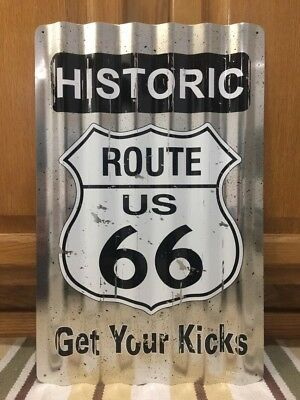 Historic Route US 66 Get Your Kicks Travel Road Trip Gas Can Pump Vintage Style