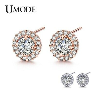UMODE Korean Small Stud Earrings for Women Cubic Zirconia CZ Earings Crystal