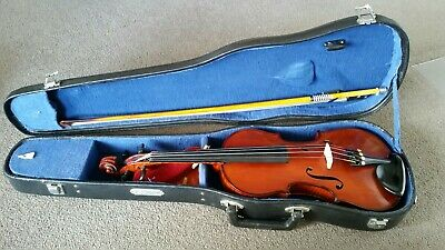 Antique German 3/4 Size Violin- Copy Of Antonius Stradivarius