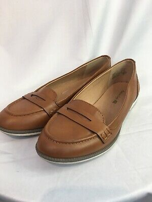 6a4e0b0a259 Tan Penny Loafer American Eagle Women Slip On Comfort Casual Walk Shoe Size  7