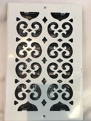 """White Decor Grates 6"""" X 10"""" Scroll Steel Wall / Ceiling Register Grate Only"""