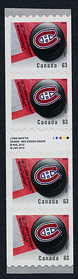 Canada 2665i Gutter pair coil strip MNH NHL Montreal Canadiens, Ice Hockey Puck