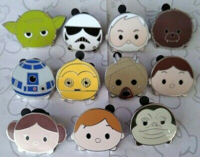 Star Wars Tsum Tsum Mystery Pack Series 1 One Disney Trading Pin Make a Set Lot