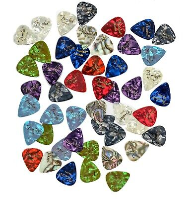 48 Variety Pack Fender 351 Premium Celluloid Guitar Picks (Thin, Med and Heavy)