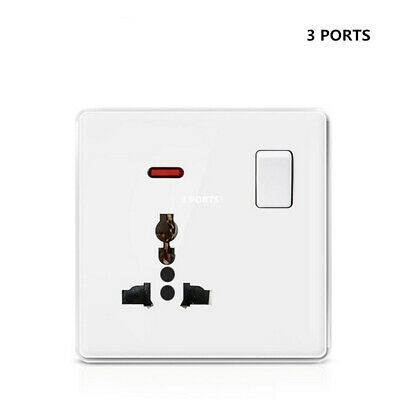 Double Wall Plug Socket 1/2Gang with 2 USB Ports Socket Flat Plate Universal