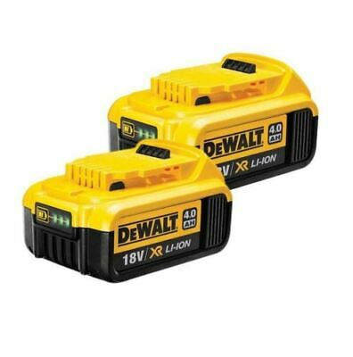 2XGenuine Dewalt DCB182 18v 4.0Ah XR Li-Ion 4ah Slide Battery 4000mah