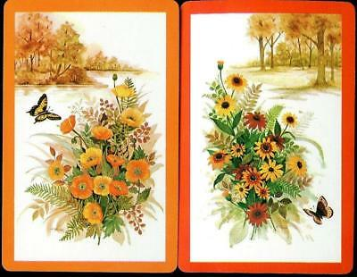 Beautiful Swap Cards Of Butterfly On The Lake With Flowers Brand New
