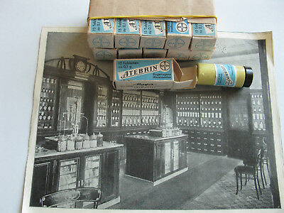 11Pcs Old Medicines Atebrin Bayer 1940-1944