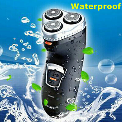 New Men's Electric Shaver Wet Dry 3 Heads Rechargeable Waterproof Shave Face AU
