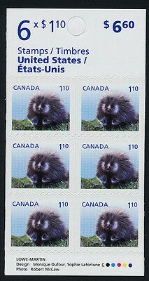 Canada 2608a Booklet BK518 MNH Baby Porcupine