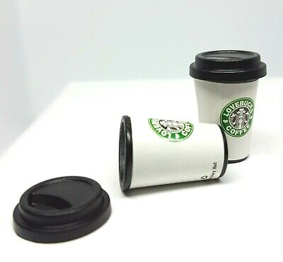 Coles Little Shop Mini Collectables - 2 x Coffee Cups