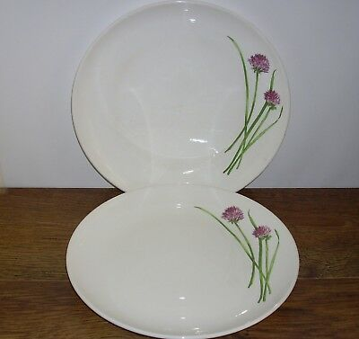 "2 x PORTMEIRION HERB GARDEN DINNER PLATES (Approx 11"")."