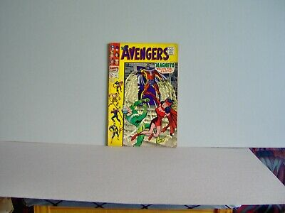 AVENGERS 47 1967 FN MAGNETO WALKS the EARTH