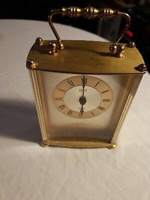 Vintage Ernest Jones  Brass Carriage Clock