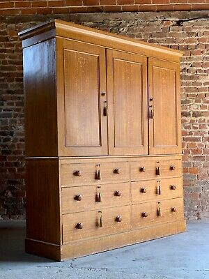 Victorian Scumbled Pine Housekeepers Cupboard Antique 19th Century Circa 1890