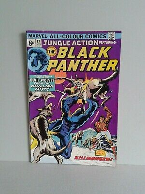 BLACK PANTHER in JUNGLE ACTION 12 1974 FN/VFN