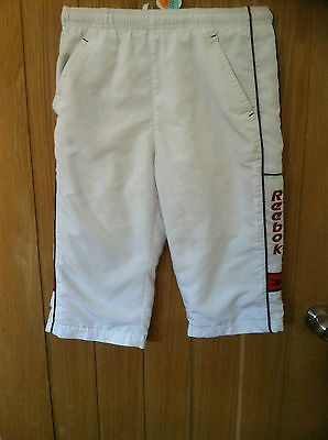 Boys Reebok Junior Medium White Sweat Pants Approx Age 7 - 9