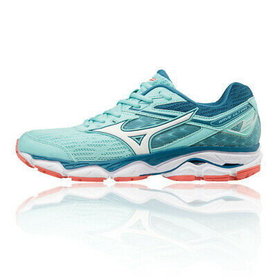 Mizuno Womens Wave Ultima 9 Running Shoes Trainers Blue White Sports Breathable