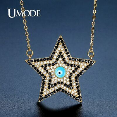 UMODE Gold Color Link Chain Cute Eye Star Pendant Necklaces for Women Fashion
