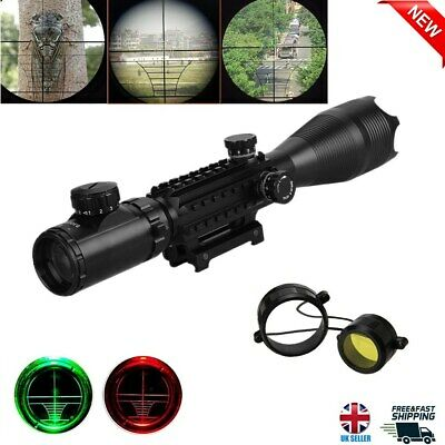 Red Green Illuminated Air Rifle Gun Hunting Scope Sight Shooting With 20mm Mount