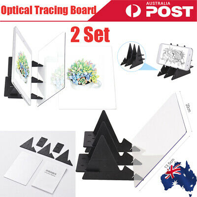 Portable Optical Tracing Board Copy Pad Panel Crafts Anime Painting Art Tool AU