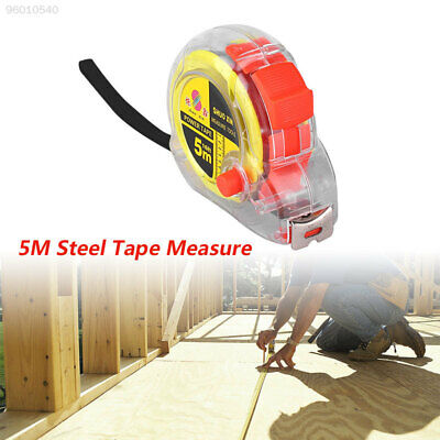 F0F2 F519 5m Steel Measure Retractable Rule Transparent Portable For Working Man