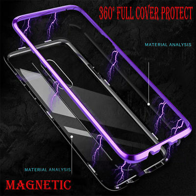 Magnetic Adsorption Metal Tempered Glass Case For Samsung Galaxy S9/S8Plus Cover