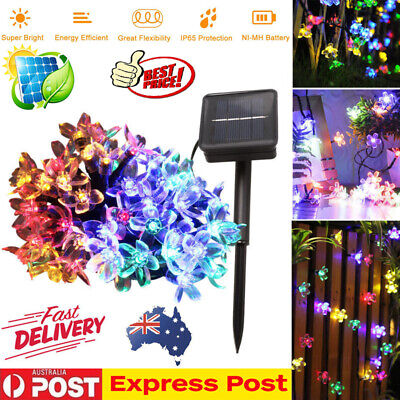 50 LED Solar String Fairy Light Outdoor Party Xmas Tree Decor Lamp Waterproof AU