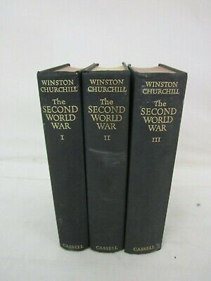 WINSTON CHURCHILL - THE SECOND WORLD WAR Vols 1-3  -Set - CASSELL 1948 to 1950