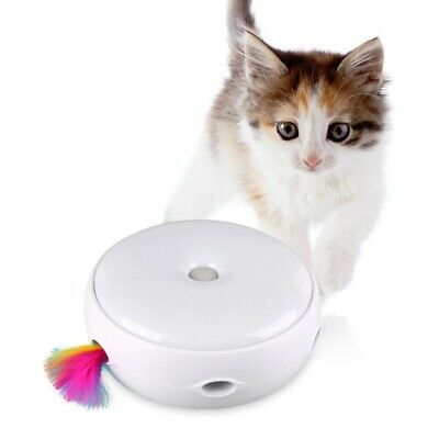 Pet Cat Electric Toy Rotating Feather Cats Teaser Interactive Kitten Funny Toys