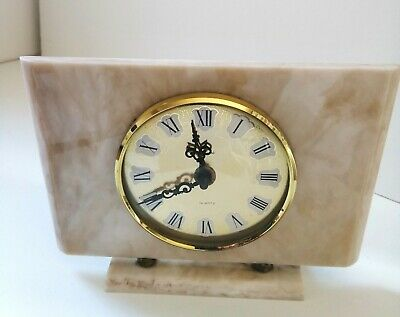 Vintage Bentima Marble effect Quartz Mantle Clock